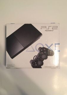 Playstation 2 Charcoal Black SCPH-90001 w/ 2 Controllers, 8MB Memory Card, Power Cables, and 3 Rare Game Demos