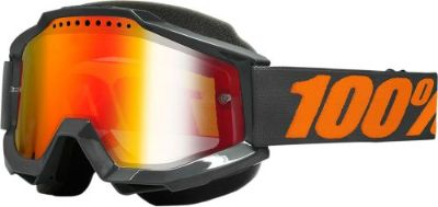Purchase 100% Accuri Snow Goggles Gray w/Mirror Red Lens 50213-025-02 motorcycle in Lee's Summit, Missouri, United States, for US $64.95