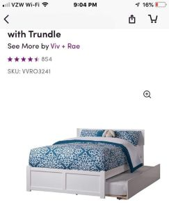 Double bed with twin trundle