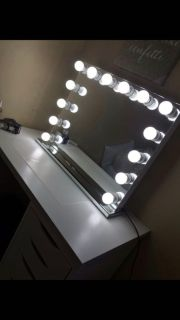 NEW HOLLYWOOD VANITY MIRROR with dimmer and outlets