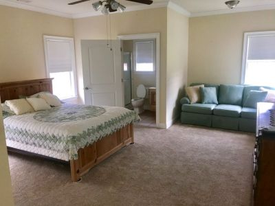 Queen Bed and Mattress and Couch