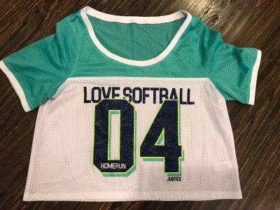 Justice Softball Crop Top - Sz 18