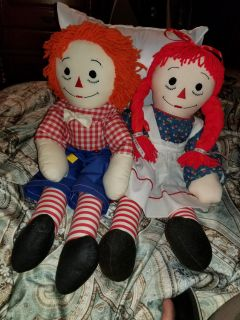 """MINT CONDITION - RAGEDY ANN & ANDY DOLLS 24"""""""