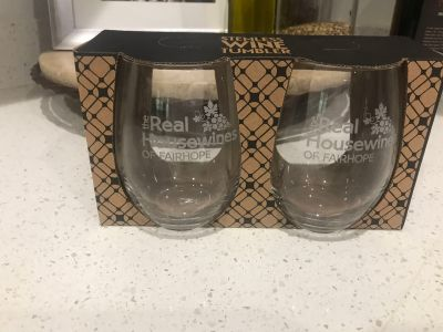 Real Housewives of Fairhope stemless wine glasses