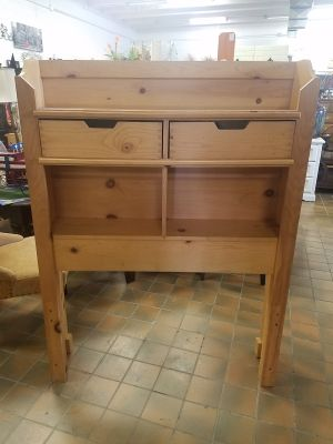 Twin headboard with drawers and cubbies $75