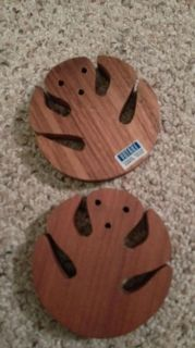 2 cute handmade wooden coasters from Costa rica