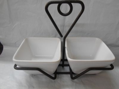Simple Addition By Pampered Chef Caddy With 2 Square Bowls