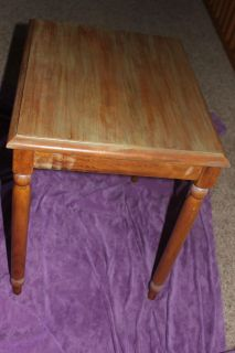 """Wooden End Table 21"""" x 17"""" and 22"""" tall"""