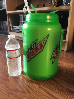 Giant insulated Mountain Dew jug