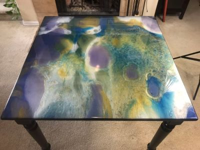 Colored Epoxy Dining Table