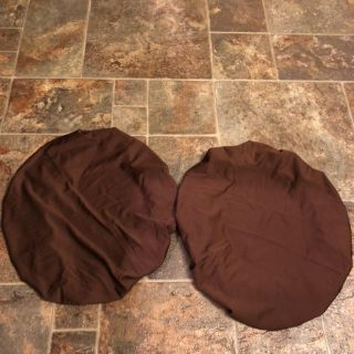 NWOT Chair Covers Protective & Stretchable: Fits Round Square Chairs, Set Of 2 (Brown)