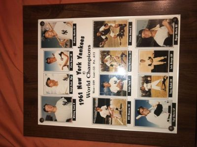 1961 New York Yankees World Champions Picture