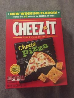 Cheez-it cheese pizza 12.4 oz