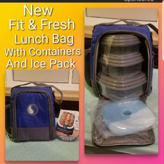 2 New Fit & Fresh Lunch Bags, Being Sold Separately