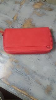 New and giftableBuaton card holder,checkbook.wallet double zippered