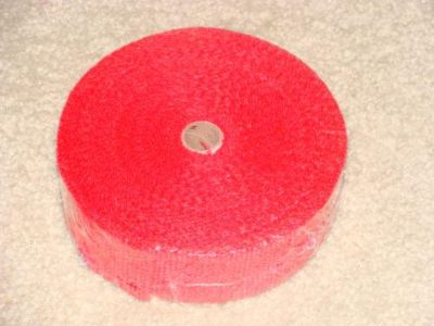 """Sell TWO ROLLS of XPW RED 2"""" x 25' Exhaust Pipe/Header Wrap Motorcycle/Harley/Bobber motorcycle in Atoka, Tennessee, US, for US $28.90"""