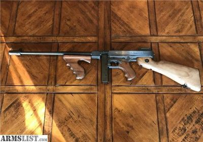 For Sale: Thompson 1927 A1 Delux Semi-Automatic, RARE