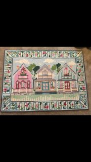 Claire Murray Victorian cottages handhooked area rug