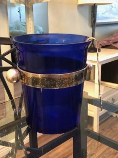 Blue Glass Champagne chilling bucket