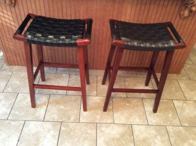 Pier One Wood Bar Stools
