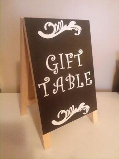 Gift Table sign CROSS POSTED