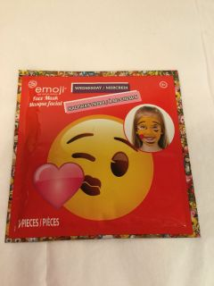 Emoji Wednesday halfway there kids face mask