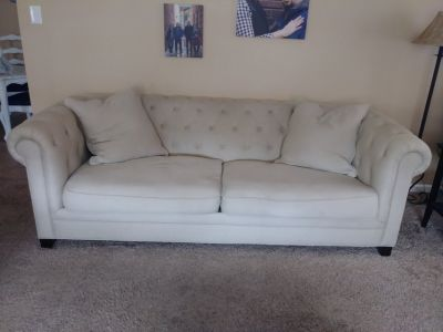 linen couch and loveseat