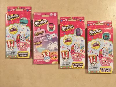 4 NEW Shopkins Card Games Collector Exclusive Shopkin w/Each One