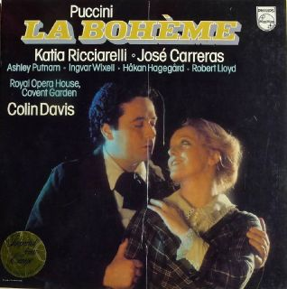 PUCCINI - LA BOHÈME - KATIA RICCIARELLI • JOSÉ CARRERAS IMPORT LP BOX