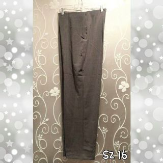 WOMENS GRAY STRETCH CAREER PANTS SIZE 16