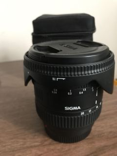Sigma 10-20mm wide angle lens Sony A-Mount