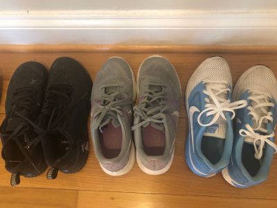 Nike and Adidas Tennis shoes size 7