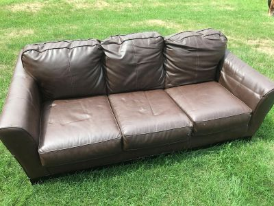 Faux Leather Sofa Couch