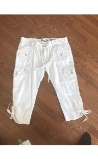 Miss Me size 30 cargo pants WHITE in color
