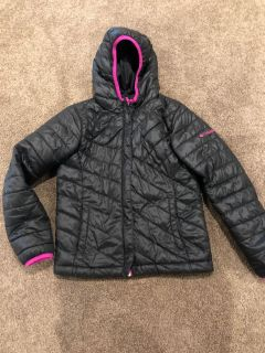 Columbia black and pink trim puffer jacket. Size 7/8