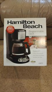 Hamilton Beach 12 cup programmable coffee maker. New Coffee pot!