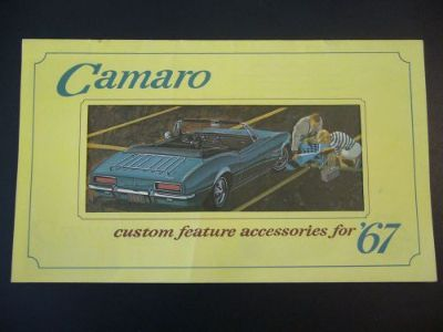 Buy NOS 1967 Camaro Accessory Brochure Set 67 includes RS SS Pictures NO REPRINT motorcycle in Monson, Massachusetts, United States, for US $25.95