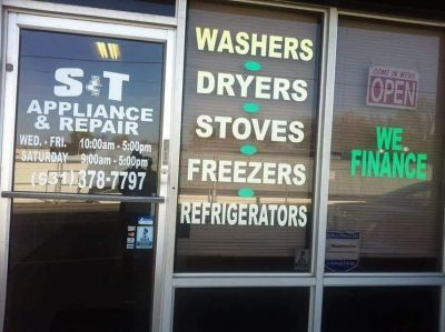 Did you say you are looking for APPLIANCES?