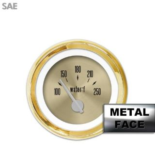 Find Water Temp Gauge - SAE American Classic Gold VII, Silver Modern Needles, Gold motorcycle in Portland, Oregon, United States, for US $29.25