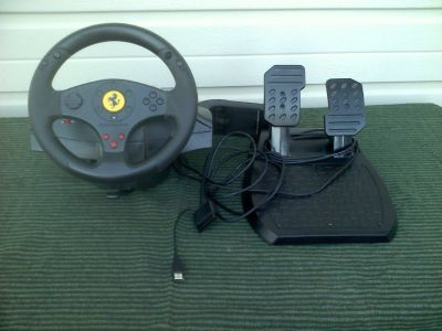 Thrustmaster Ferrari GT Experience 3 In 1 Racing Wheel And Pedals Set V2