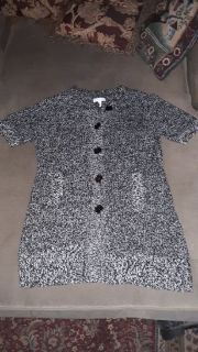 Women's size Small Black Charter Club Sweater Coat