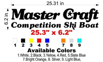 Find Classic MasterCraft Competition Ski Boat Decal motorcycle in Amity, Oregon, United States, for US $21.95