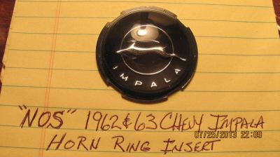"""Purchase """"NOS"""" 1962 & 63 Chevy Impala & Impala """"SS"""" Horn Ring / Horn Button Insert motorcycle in Kansas City, Missouri, US, for US $19.95"""