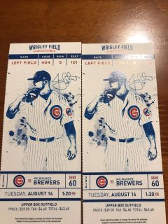 Cubs game Tuesday for sale