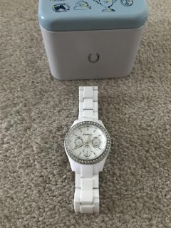 Fossil watch with tin