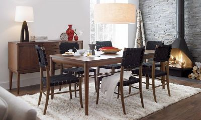 Oslo Mid-Century Modern Dining Room Table (Crate & Barrel)