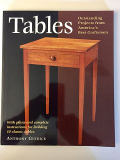 BRAND NEW! TABLES Woodworking Book