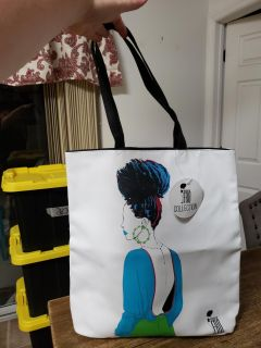 New With Tags! Pardon My Fro Tote Bag.