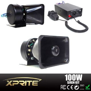 Purchase 100W 12V Loud Speaker PA Horn Siren System Mic Kit Police Car Fire Truck motorcycle in Rowland Heights, California, United States, for US $89.95