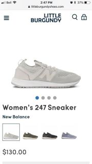 New Balance nude sneaker size 6.5 (new with box)